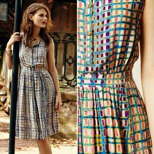 Anthro Plenty by Tracy Reese Sunchecked Shirtdress